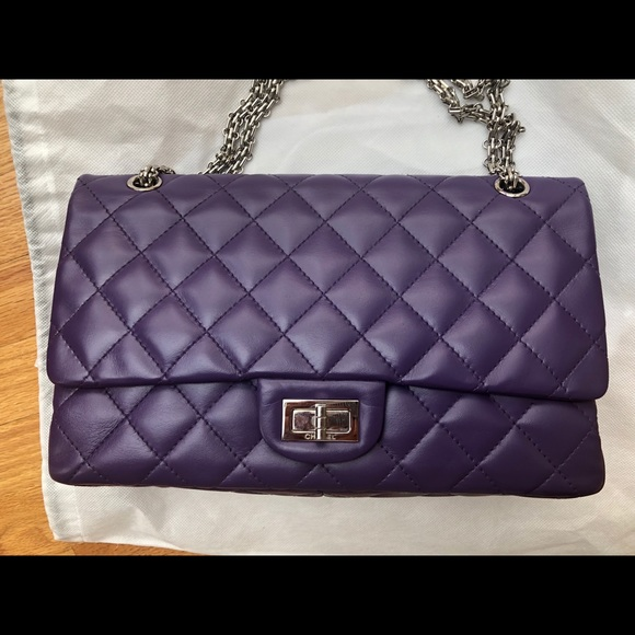 8fb0c8a1646a CHANEL Handbags - Chanel 2.55 277 jumbo size purple flap